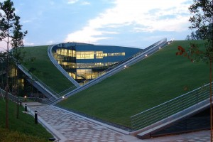 NTU-ADM_Roof_rising_from_the_ground